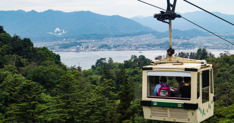 [Miyajima] Observatoire Shishiiwa et vue sur les îles alentours