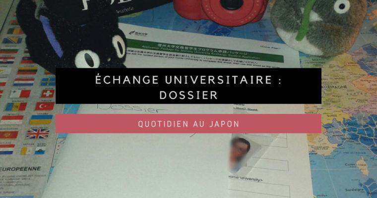 <h1>Échange universitaire : dossier</h1>
