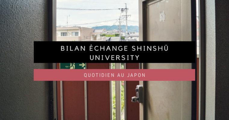 <h1>Bilan échange universitaire : Université de Shinshû</h1>