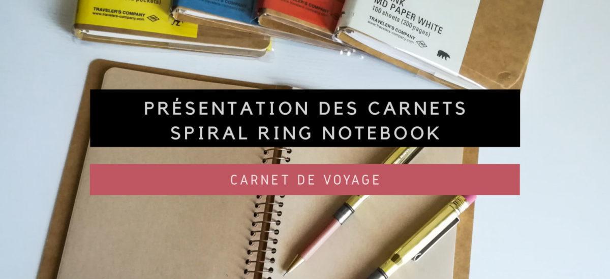 [Carnet de Voyage] Présentation des carnets Spiral Ring Notebook